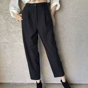 Vintage High Waist Trouser Pants Pleated Front M